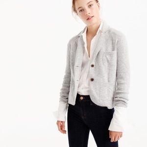 J. Crew cropped knit sweater blazer wool cardigan